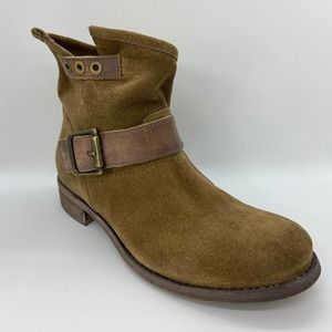 Cordani Tan Suede Buckle Detail Ankle Boots